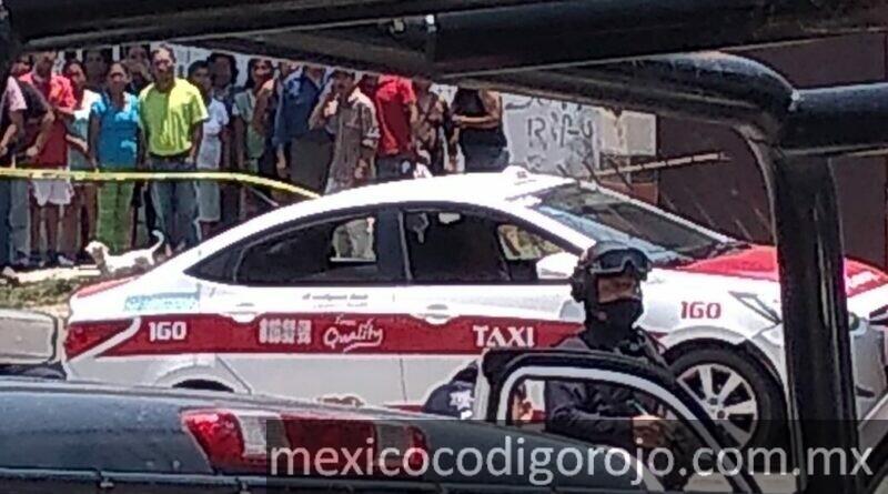 El taxista fue asesinado en Coatepec. Foto: Tomada de Sin Filtro Noticias